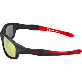 UVEX Sportstyle 507 Sportbrille Kinder black mat red/red